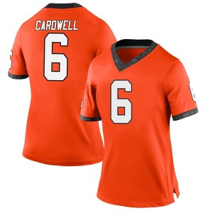 JayVeon Cardwell Nike Oklahoma State Cowboys Women's Game Football College Jersey - Orange