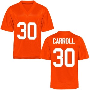 Jeffrey Carroll Oklahoma State Cowboys Men's Replica Football College Jersey - Orange